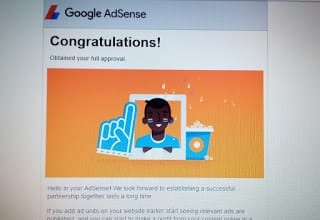 Approval from adsense
