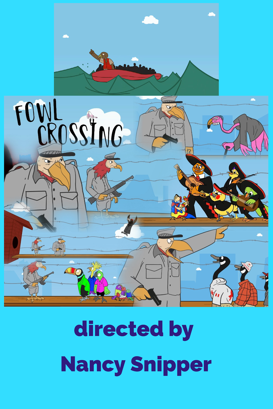 Fowl Crossing by Nancy Snipper