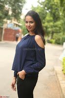 Poojita Super Cute Smile in Blue Top black Trousers at Darsakudu press meet ~ Celebrities Galleries 060.JPG