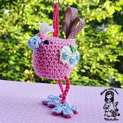 crocheted bird pattern