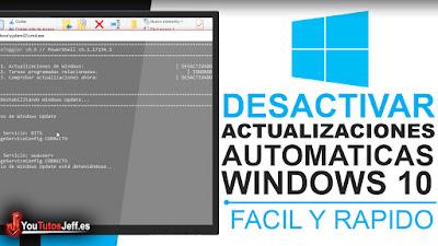 como desactivar actualizaciones automaticas windows 10