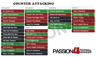 FM14 Shouts Counter attacking