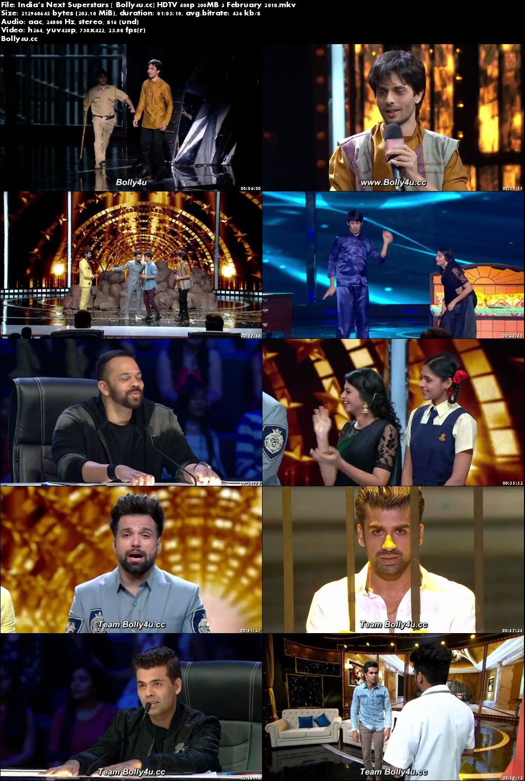 Indias Next Superstars HDTV 480p 200MB 03 February 2018 Download