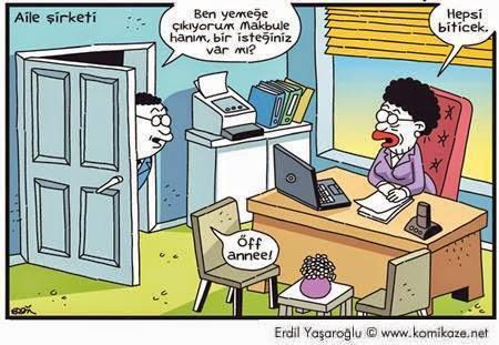 aile şirketi karikatür