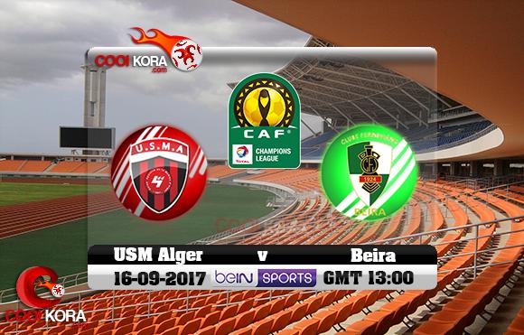مشاهدة مباراة فيروفياريو دا بيرا وإتحاد الجزائر اليوم 16-9-2017 دوري أبطال أفريقيا