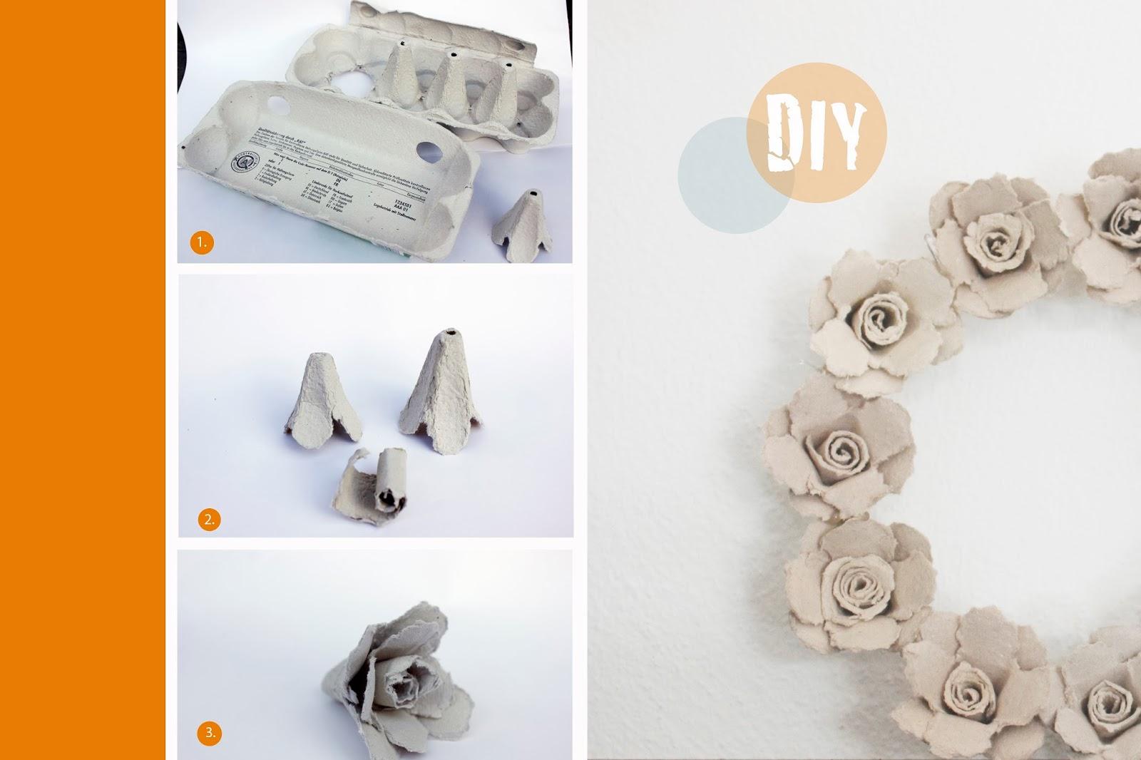 majaskreativwelt eierkarton rosen. Black Bedroom Furniture Sets. Home Design Ideas