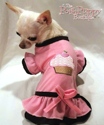LICIOUS CUPCAKE RUFFLED DOG DRESS