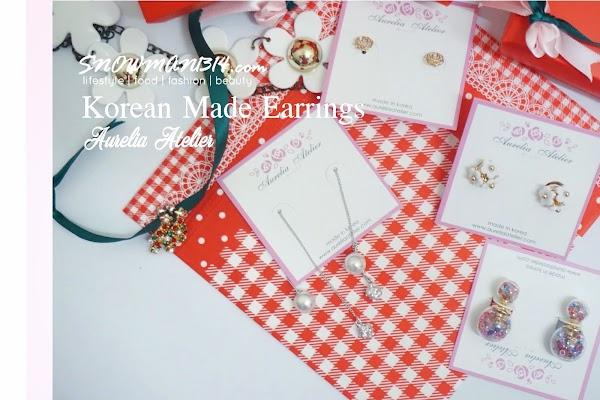 Korean Made Earrings from Aurelia Atelier