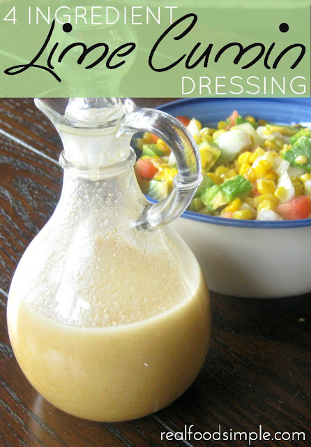 4 ingredients lime cumin dressing | realfoodsimple.com