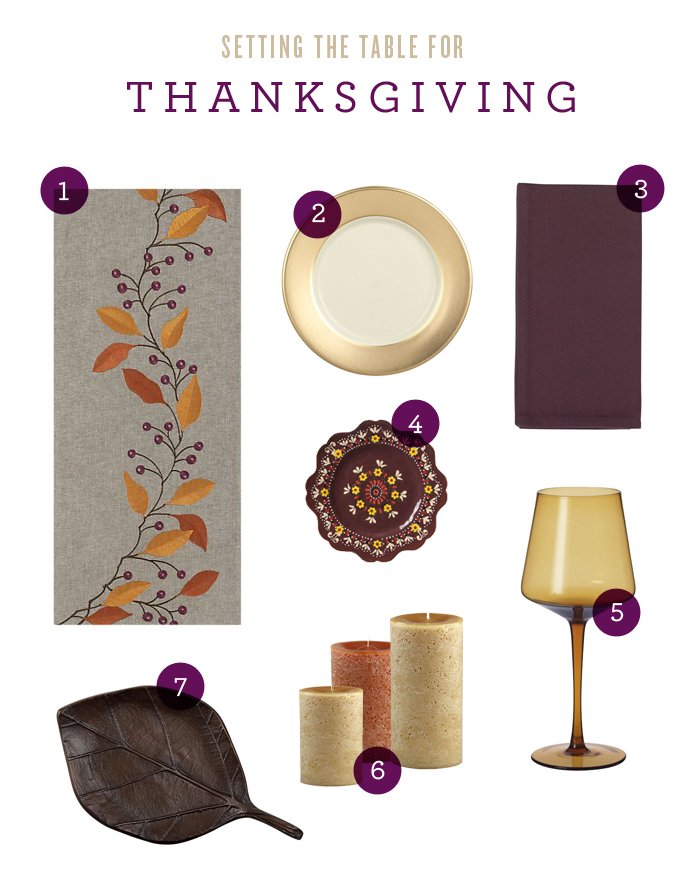 thanksgiving, table setting, crate and barrel, west elm, interiors