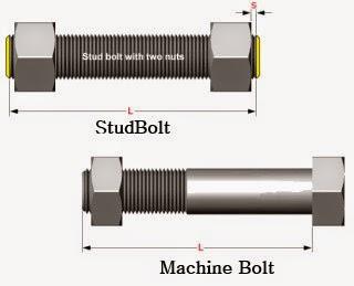 perbedaan machine bolt dan stud bolt