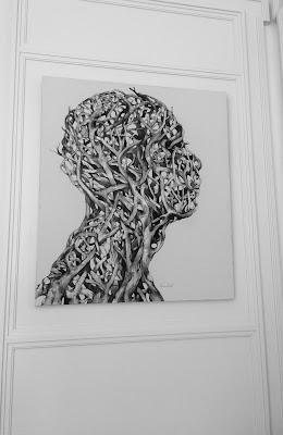 Lukisan kepala  hitam putih