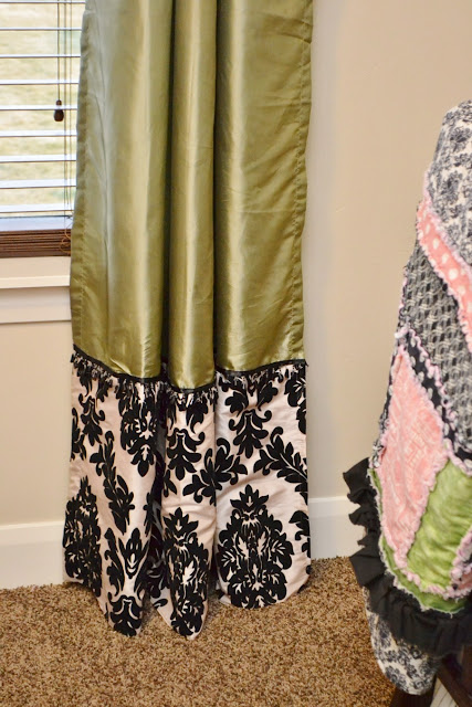 how to make curtains longer and add embellishments