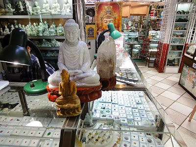 Jade shopping at Bogyoke Market in Yangon
