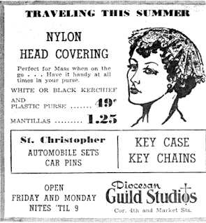 ad for Nylon head covering
