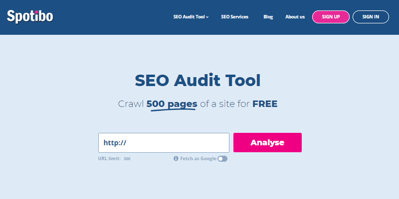 Spotibo is a powerful SEO audit tool