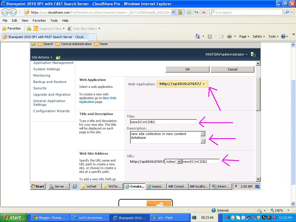 Sharepoint Tutorials Sharepoint Tutorials Add New Content Database To Sharepoint Web