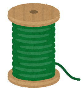 糸巻きのイラスト(緑)