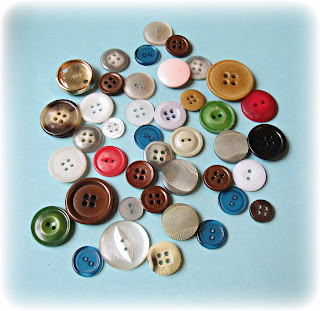 image vintage button stash multicoloured lot