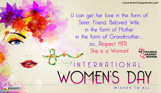 wishes Quotes of Women's Day in English, Women's Day significance in English