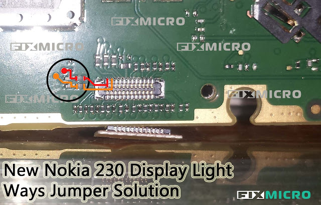 Microsoft Nokia 230 Display Light Tested Solution
