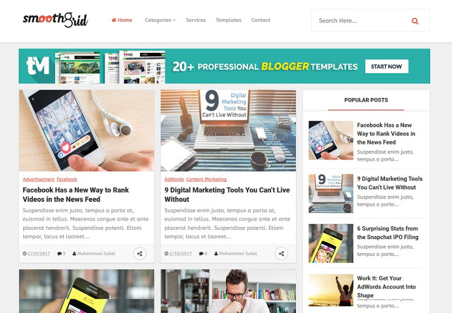 Top 6 High CPC Free Blogger Template 2019