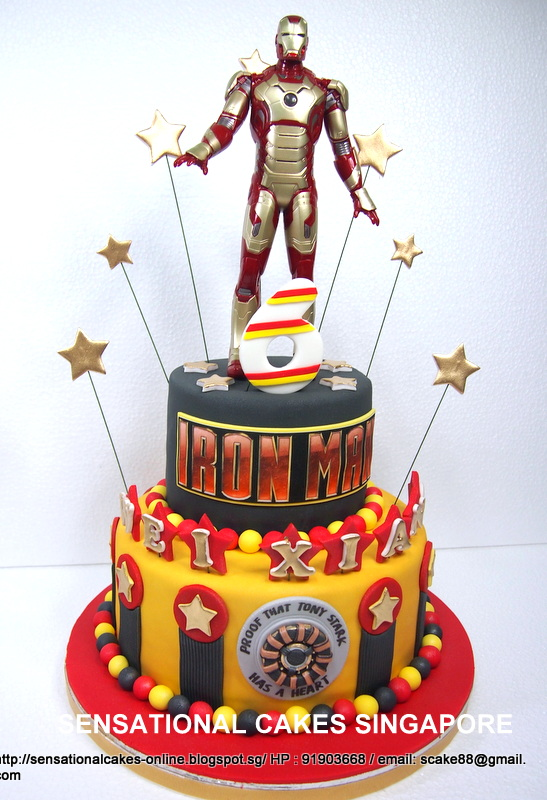 The Sensational Cakes Tony Stark Have A Heart Cake