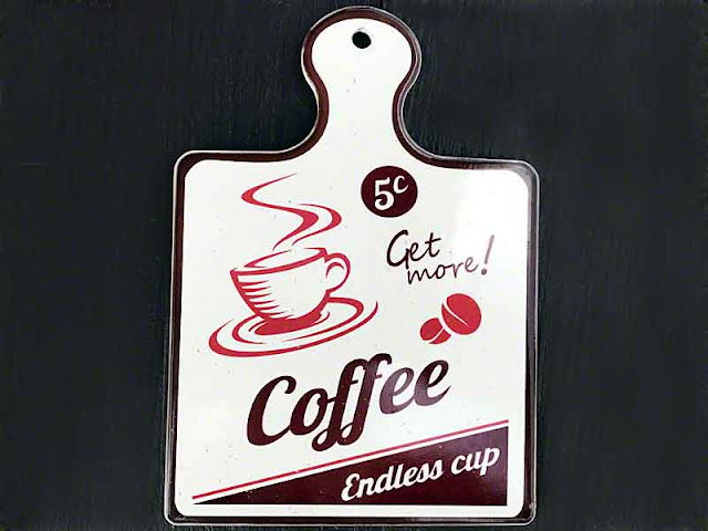 Endless Coffee, sign, 5 cents