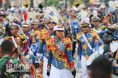 Marching Band Taruna Latsitardanus XXXIX Kembali Memukau Masyarakat Trenggalek