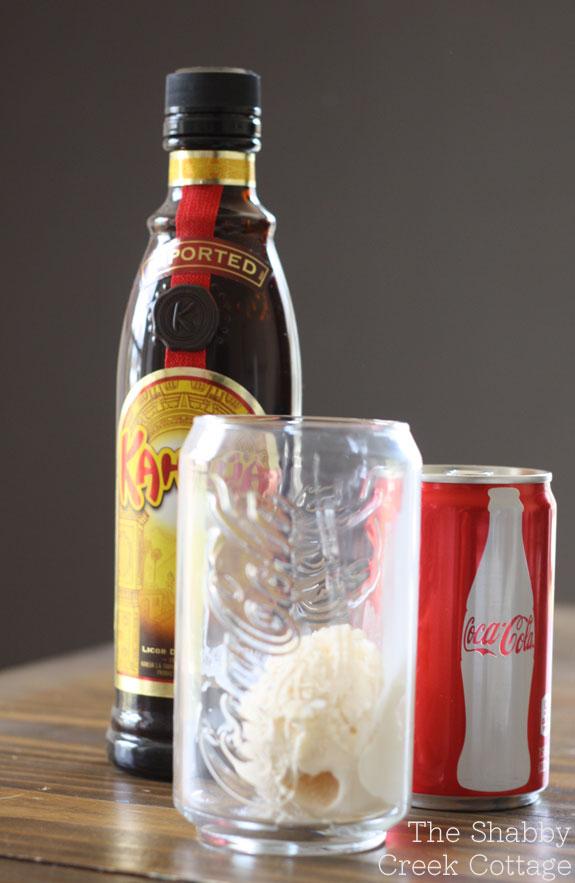 kahlua coke float