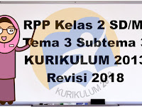 RPP Kelas 2 Tema 3 Tugasku Sehari-hari Subtema 3 K13 Revisi 2018