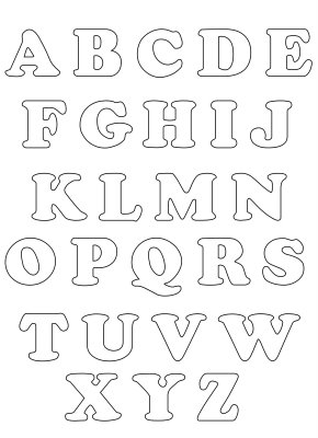 Moldes De Letras Para Imprimir Espaco Educar Desenhos Pintar