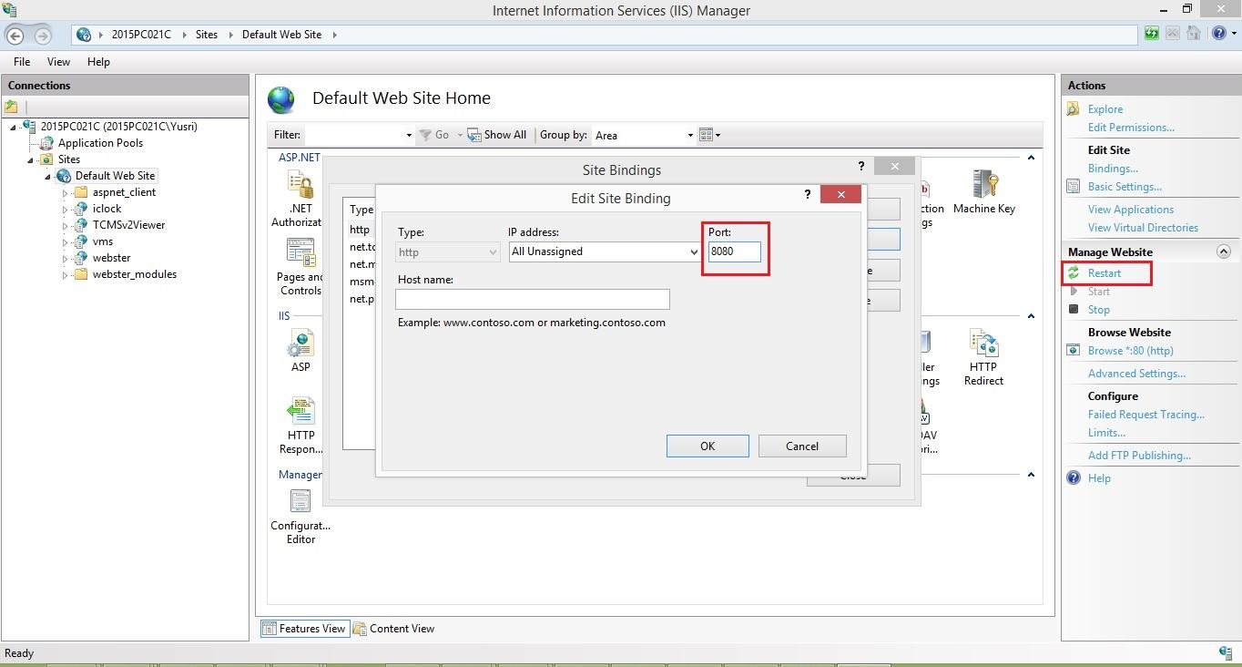 Change Port Number for TCMS V2 Viewer | FingerTec Technical Blog