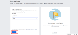 Page Name & Category, Create a Facebook Page