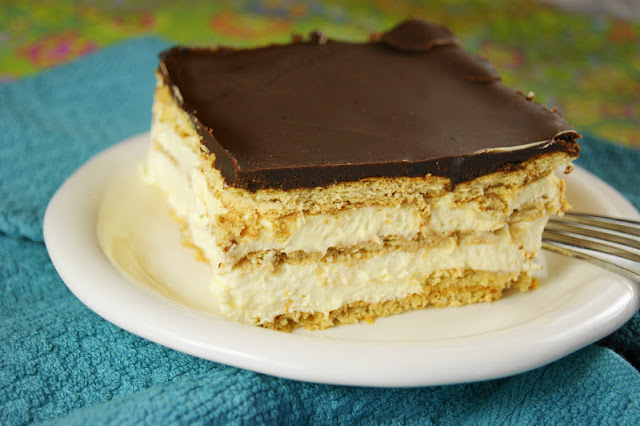Creamy & delicious No-Bake Chocolate Eclair Dessert Image ~ always a HUGE hit.   www.thekitchenismyplayground.com