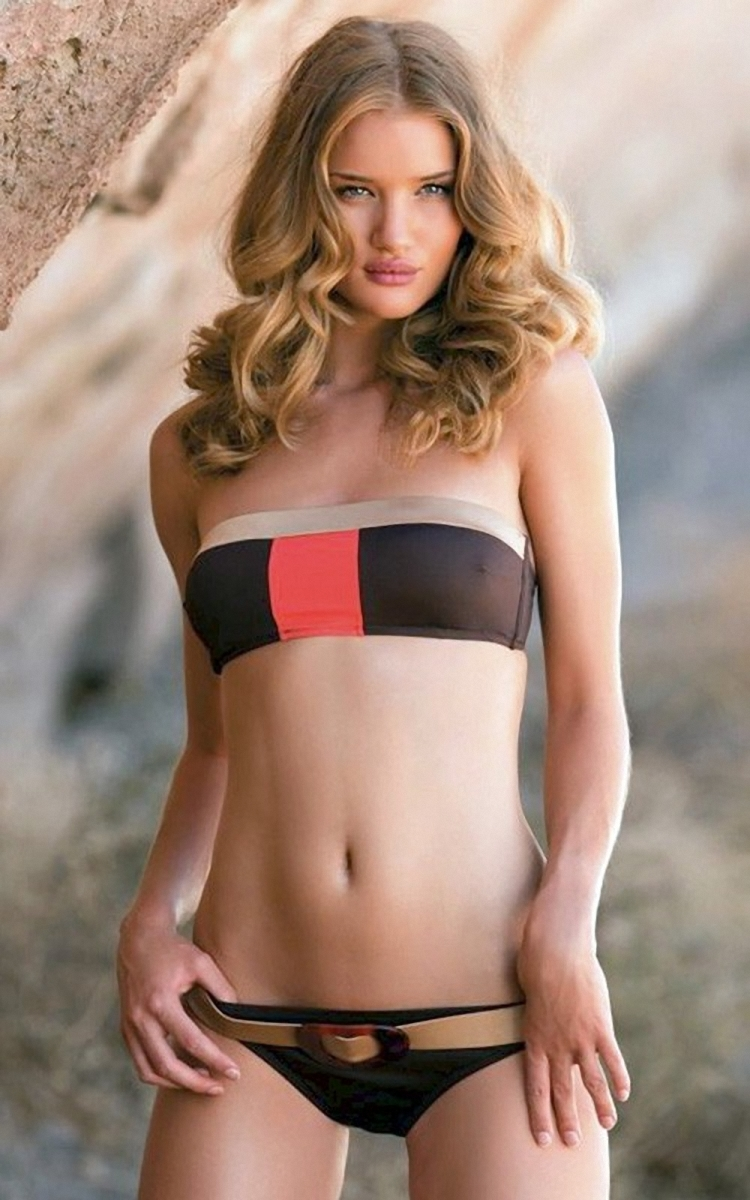 Celebrities in Hot Bikini: Rosie Huntington-Whiteley