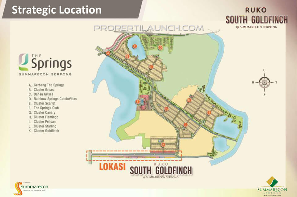 Lokasi Ruko South Goldfinch Summarecon Serpong