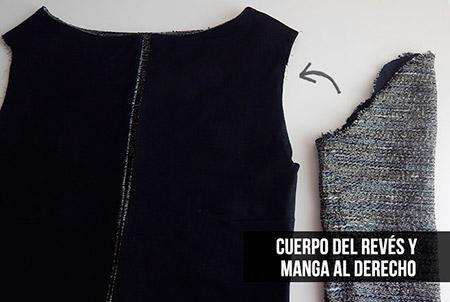 coser mangas chaqueta chanel diy