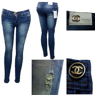 Celana Jeans wanita Sobek, celana jeans wanita terbaru, celana jeans channel, celana jeggging