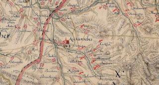 Mapa de Karansebes de 1770