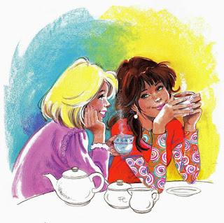 café con amigas,