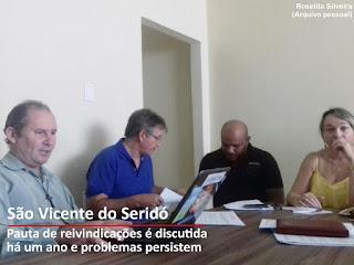 SINPUC se reúne com equipe gestora e assessoria jurídica de São Vicente do Seridó