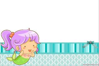 Sirenitas Bebés: Invitaciones para Imprimir Gratis.