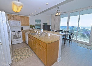 Sanibel Condo For Sale Gulf Shores AL Real Estate Unit 406 Kitchen Living Room