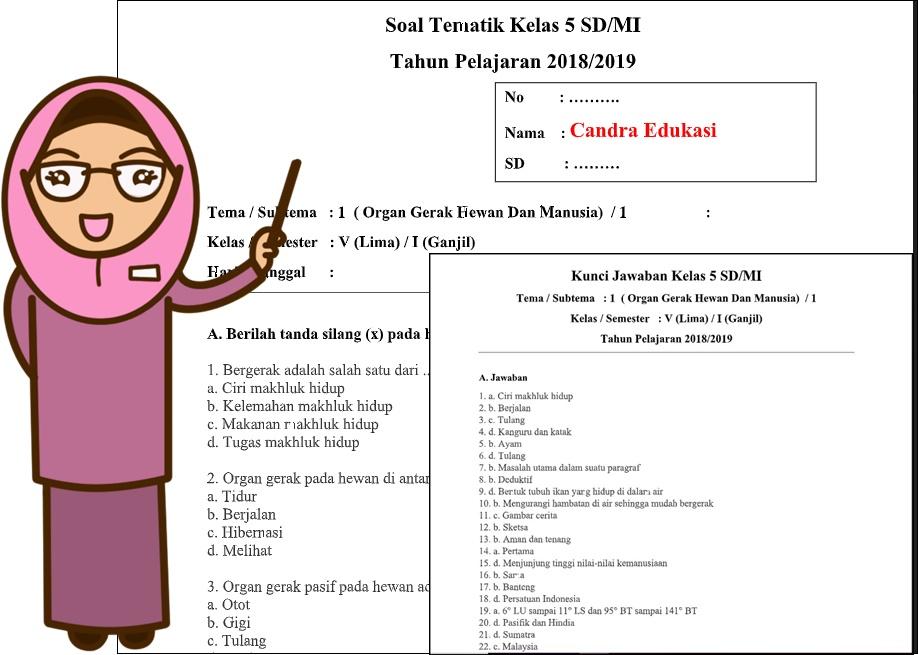 Soal Tematik Kelas 5 Tema 1 Subtema 1 Dan Kunci Jawaban Teori Dan Soal