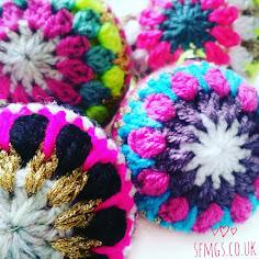 352c9bfc1 Crochet Christmas Bauble Decorations