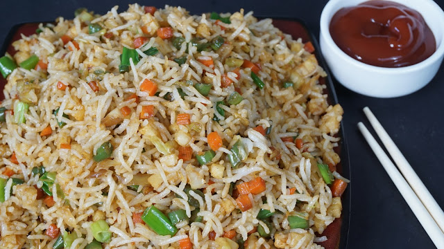 ... we are going to make this fried rice special by adding fried potatoes