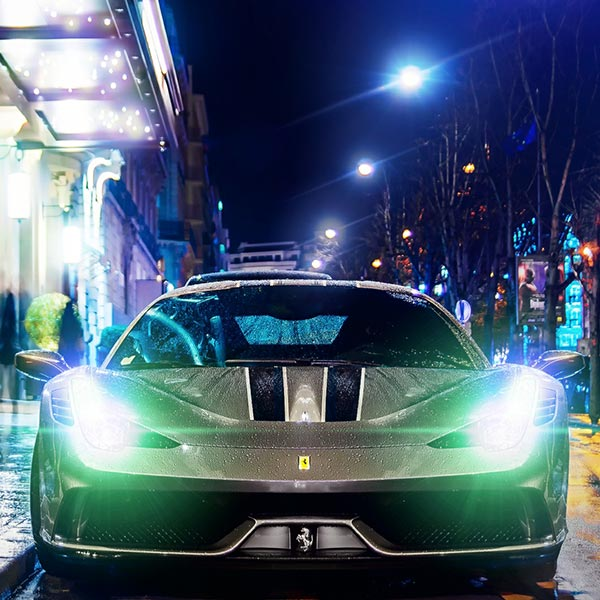 Ferrari Lights Audio Visualizer HDR Wallpaper Engine