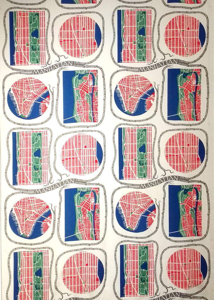 Josef Frank's Manhattan pattern design at the Fashion and Textile Museum on Kim Dellow's blog