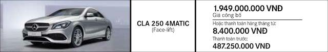 Giá xe Mercedes CLA 250 4MATIC 2018 tại Mercedes Trường Chinh